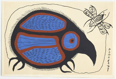 Norval Morrisseau, 'Untitled (Little Bird With Bug)', 1967-1973