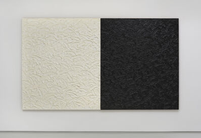 James Hayward, 'Abstract Diptych #24 (Titanium-Zinc White in safflower oil/Mars Black in linseed oil)', 2014