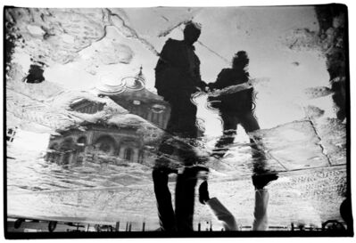 michael rababy, 'firenze rain series #22 (walking)', 1988