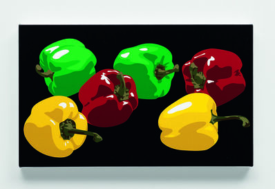 Julian Opie, 'Still life with yellow, red and green peppers', 2001