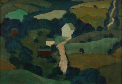 Ross Braught, 'Hilly Roads', ca. 1925