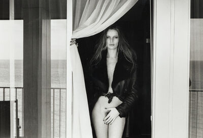 Helmut Newton, 'Portrait of Veruschka on the Terrace of the Presidential Suite, Hotel Meridien, Nice, 1975', 1976