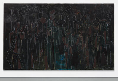 George Condo, 'Black Standing Figures', 2000