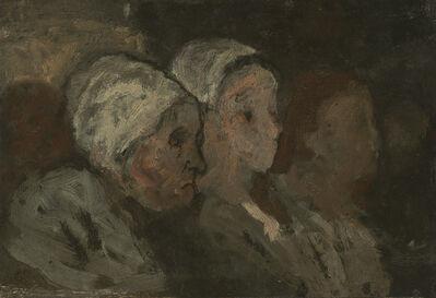 Honoré Daumier, 'In Church', 1855/1857