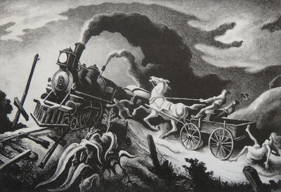 Thomas Hart Benton, 'Wreck of the Ol' '97', 1944