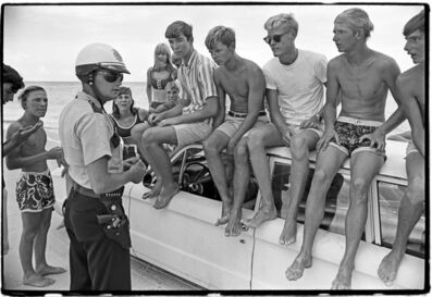 Al Satterwhite, 'Surfers Kids and Cop', 1964