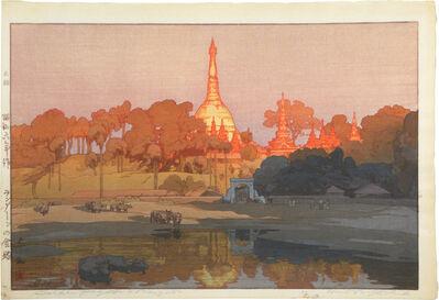Yoshida Hiroshi, 'Golden Pagoda in Rangoon, from the India and South East Asia series', 1931