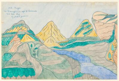 Joseph Yoakum, 'Mt. Negoi in Transylvania Alps of Romania near town Cluj'