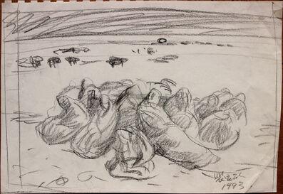 Pei Zhuangxin, 'Sketch 油畫《雪⼭下》草圖', 1993