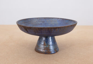 Beatrice Wood, 'Untitled (Small blue footed bowl)', c. 1960