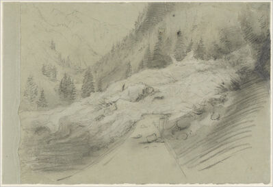 Pierre Puvis de Chavannes, 'Avalanche in an Alpine Landscape', ca. 1870