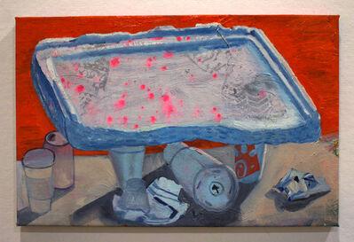 Ezra Johnson, 'Styrofoam Lid with Miscellaneous Objects', 2018