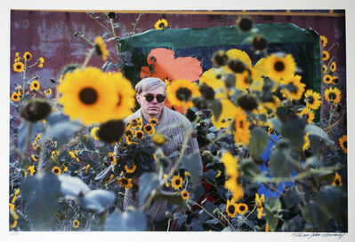 William John Kennedy, 'Andy Warhol with his Flowers', 1964