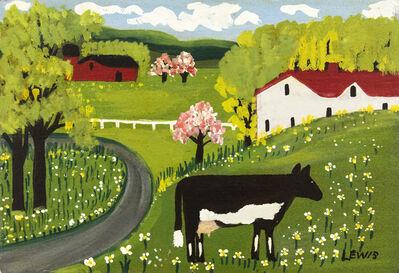 Maud Lewis, 'Cow in Springtime', Mid-20th Century