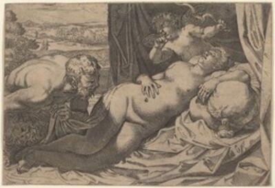 Annibale Carracci, 'Venus and a Satyr', 1592