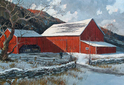 Eric Sloane, 'Barn in Winter'