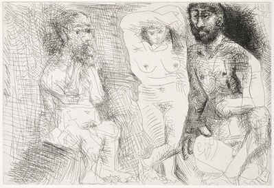 Pablo Picasso, 'Two Bearded Men with a Naked Woman (El Entierro del Conde de Orgaz, B.1467)', 1969