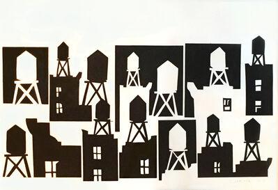 Tom Slaughter, 'Watertowers Black', 2013