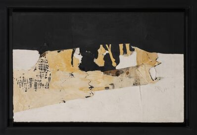 Alberto Burri, 'Bianco nero', 1952
