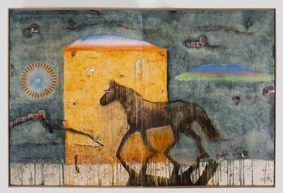 Benoît Maire, 'Peinture de nuages (diptyque)', 2019