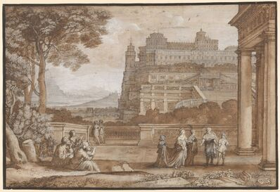 Claude Lorrain, 'Queen Esther Approaching the Palace of Ahasuerus', 1658