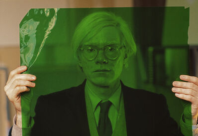 Thomas Hoepker, 'Andy Warhol in his factory, New York', 1981