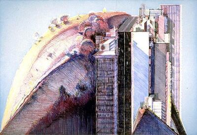 Wayne Thiebaud, 'Country City', 1988