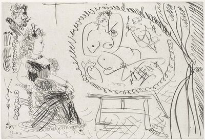 Pablo Picasso, 'Amateur Couple Looking at a Painting(El Entierro del Conde de Orgaz, B.1474)', 1969