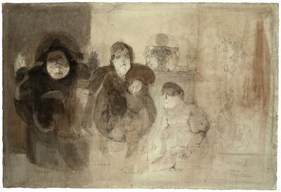 Jose Luis Cuevas, 'Personajes celebre en el asillo de Charenton', 1963