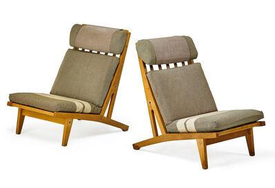 Hans Jørgensen Wegner, 'Pair of lounge chairs, Denmark', 1960s