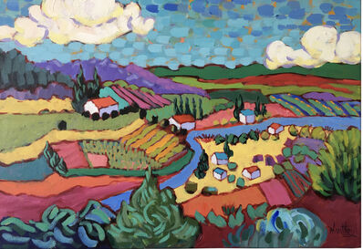 """Claudia Hartley, '""""Looking Down on the Valley""""', 2019"""