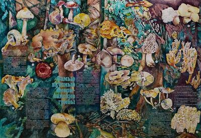 Nikita Shalenny, 'The Most Delicious American Mushrooms (Article) Diptych', 2016