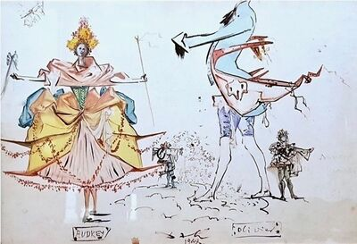 Salvador Dalí, 'Audrey - Olivier', 1948