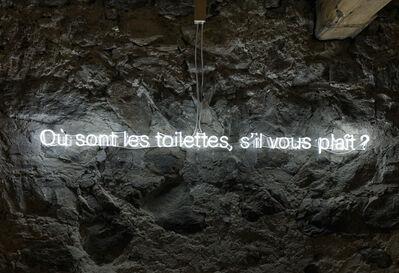 Bethan Huws, 'Où sont les toilettes, s'il vous plaît?', 2018