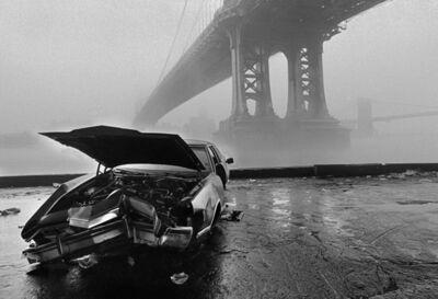 Ferdinando Scianna, 'USA. New York city. Manhattan Bridge and Brooklyn Bridge in the fog. (City of the world).', 1986
