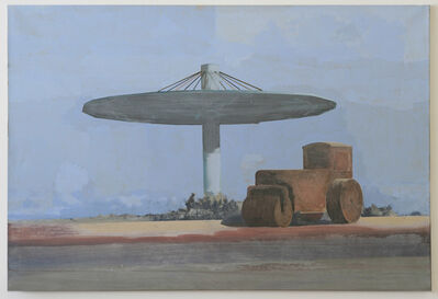 Edi Hila, 'Steamroller Under Shelter', 2001