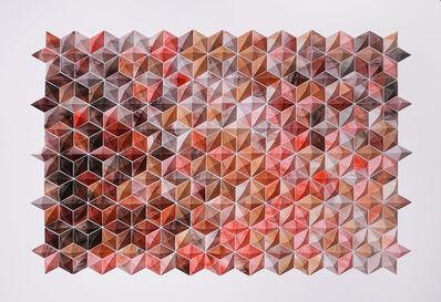 Matt Shlian, 'Breath Castles (red) framed', 2015