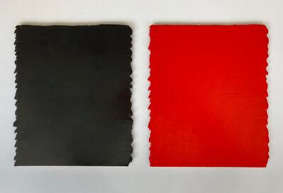 Bernard Aubertin, 'Cache-cache no 6, noir partie 1/2, rouge partie 2/2', 2000