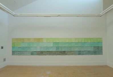Maider López, 'Caja de 120 lápices de colores - Verde', 2017