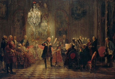 Adolph Menzel, 'Flute Concert with Frederick the Great in Sanssouci', 1850-1852