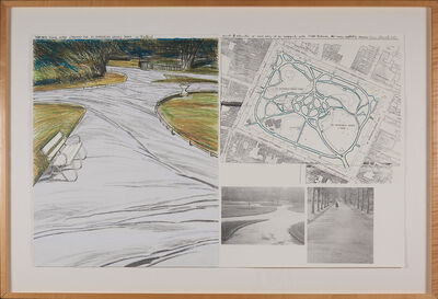 Christo, 'Wrapped Walk Ways (project for Stephen's Green  Park in Dublin)', 1983