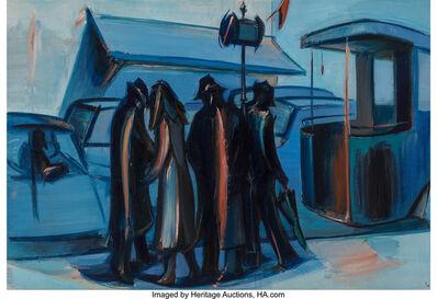 Jean Hélion, 'L'attente bleue', 1966