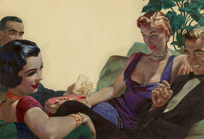 Edwin Georgi, 'The Social Hour', 1950