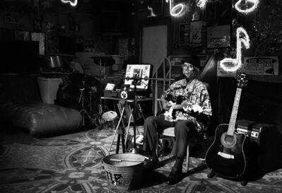 "Karen Hayes Thumann, 'Robert ""Wolfman"" Belfour #2, Red's Lounge Juke Joint', 2014"
