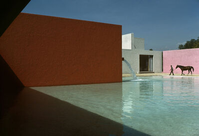 René Burri, 'Horse Pool and House by Luis Barragan, San Cristobal, Mexico', 1976