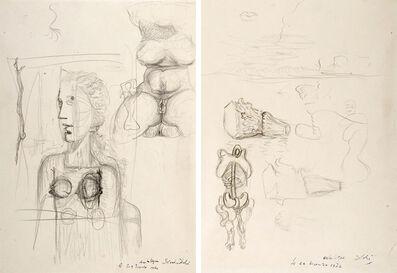 Salvador Dalí, 'Études pour le tableau Visage Paranoïaque (1935)', 1935