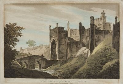 William Hodges, 'The East End of the Fort of Mongheer', 1787