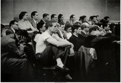 Eve Arnold, 'Paul Newman in white t-shirt taking a class at The Actors Studio, New York', 1955
