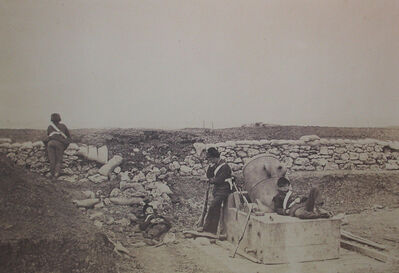 Roger Fenton, 'A Quiet Day in the Mortar Battery'