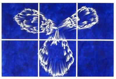 Gary Simmons, 'Blue Implosion Cloud Grid', 2008